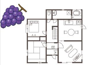ブドウ型のお家、リンゴ型のお家