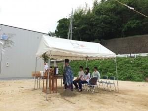 津山市M様邸、地鎮祭ですっ♪